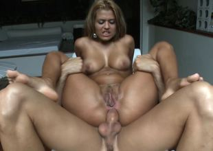 A blonde is showing us how much she loves to do anal sex