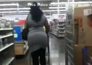 Amazing chick with large pest gets caught on my hidden cam in Walmart
