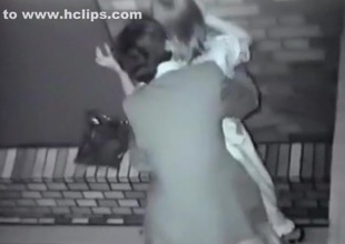 Voyeur tapes an oriental party couple fucking in public in an alley
