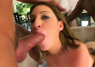This was Nadia's first time on camera and she fucked them both
