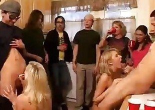 Group be fitting of horny college angels start an orgy at a lodging party