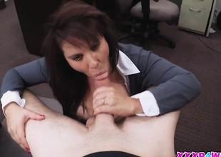 Sweet lovely babe sucking massive massive hard knob