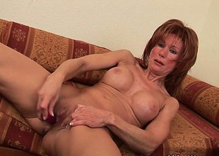 Sizzling hot redhead milfs take matters secure their own fingertips