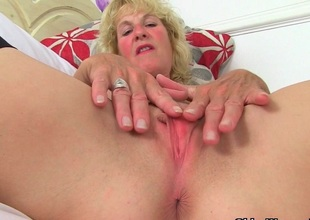 British milfs Molly added to Diana masturbate in blackguardly stockings