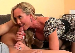 Athletic milf with a wonderful and round nuisance is trying to have some sex round office. This babe attacks this boy and gives him a naturally wonderful blowjob. He returns with some pussy licking