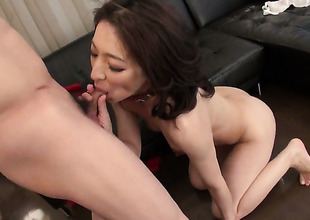 Dangerously horny sweetie Marina Matsumoto gets the pussy have sexual intercourse of her dreams with hard dicked dude