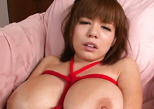 Milf Airu Oshima to gigantic jugs stripping down to her scant extrinsic