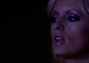 Stormy Daniels gets her mouth interrupted by rigid sausage