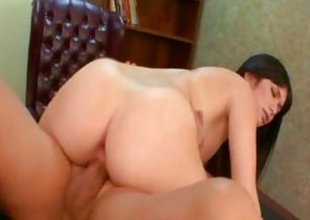 Ashlyn Rae rides her pussy primarily this hard dick