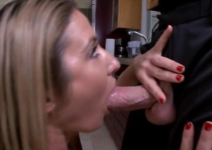 Masher uses a thick sex toy to delight her horny fuck holes