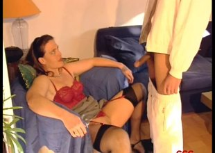 Submissive German bitches get arse drilled and fed semen