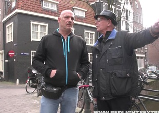 One lucky tramp gets a Bohemian roll with a grumble all round Amsterdam