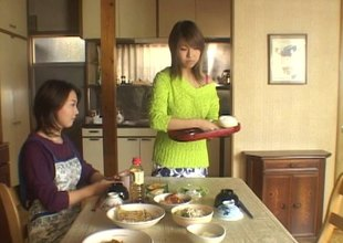 Loved Japanese sweater girl makes love to a married dude