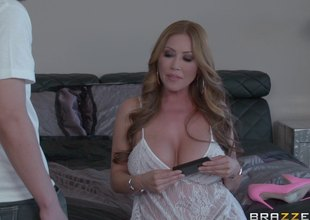 Busty Oriental milf swallows a load of cum check out being bonked hardcore doggy style