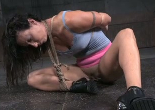 Coquette jade Karmen Karma is toy fucked in domination porn video