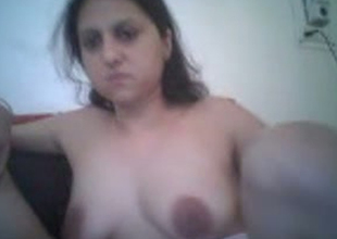 Kinky Indian housewife is getting her pussy rubbed with reference to amateur video