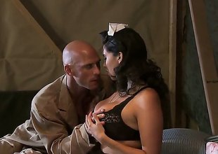Johnny Sins gets tempted by Missy Martinez with beamy breasts with the addition of then drills her muff