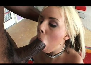 Rachel Solari desires to have her white ass filled with black dagger