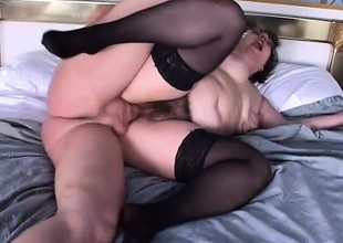 A fat added to nerdy bitch gets the rough vagina drilling she deserves