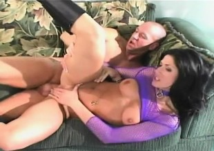 Seductive brunette campo boots Dynamite Dillan acquires will not hear of ass punished