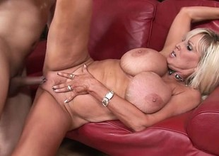 Thick as be wild about blonde cougar gets wild with a young man's tool