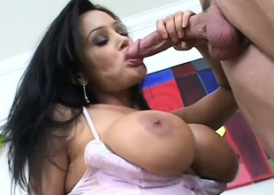 A smoking hot underwriter caresses her tits as she bounces primarily a dick