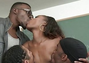 Chanell Heart Is Ready-to-eat Like A difficulty Foyer Slut By Several Big Black Dongs