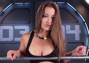 Amazing babe Dani Daniels and be transferred to machine