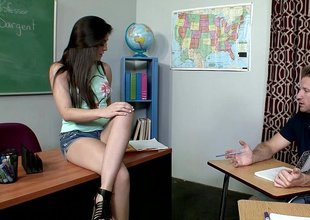 Natalie decides to fuck her tutor for be passed on answers