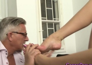 Anal tot foot worshipped