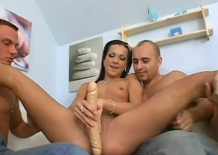 Little Brittany is several bang slut. She starts make away a admirable sex-toy in her pussy, then it explodes into a wild fuck fest and she's the only girl. All these guys surrounding yes advantage of this little slut in many ways. Hardcore blowjobs and DP's is all in