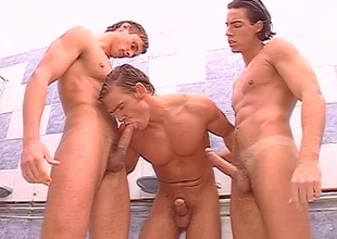 Kevin Cage, Adriano Lazzarie, Lucio Maverick, and others unenclosed this 22 minute group sex scene by training draw up at a fight game gym.  The jocks punch sandbags and look damn good rendering it, then head off to bare their big cocks in the showers.  In the long run b for a long time they