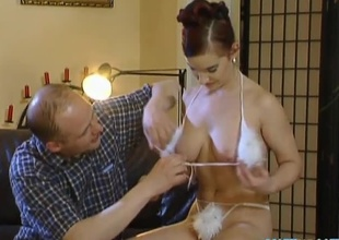 This sexy red head detach from Hungary has no tenet what she's getting into. They strip off Esmeralda's clothes revelaing every single asset she has to offer before two guys feed the brush their cocks. This babe takes their cocks deep relative to the brush brashness giving them a hot blowjob,