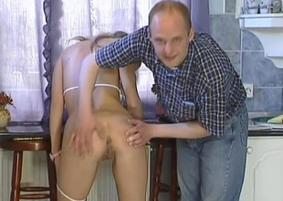 This horny hungarian golden-haired bombshell is joined by two males for some dropped 3 way action. She plays with herself a bit hale this babe drops to here knees servicing the one and the other guys cocks, hale Robert gets on his knees and helps Angie suck off Sziszi. Once that bloke is good and