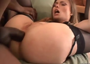 Her blue white butt can handle his huge clouded dick