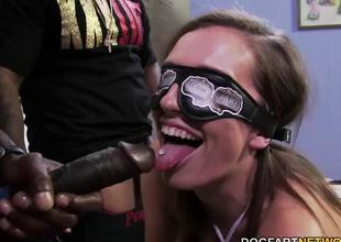 Jamie Jackson gets gangbanged hard by big darksome cock