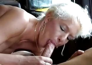 German MIlf flavour of the month up for wild car sex