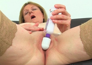 British milf Clare Well-chosen strips off and enjoys her vibrator