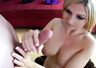Blonde porn superstar enjoys in oral sex