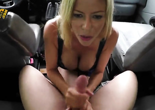 Uttered by a busty blonde in the SUV