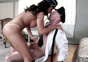 Johnny Sins is sweltering and cant wait any longer to group-sex magically sexy Lezley Zens mouth