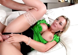 Blonde Tanya Tate has a wonderful desire for cock sucking and Jordan Ash knows it
